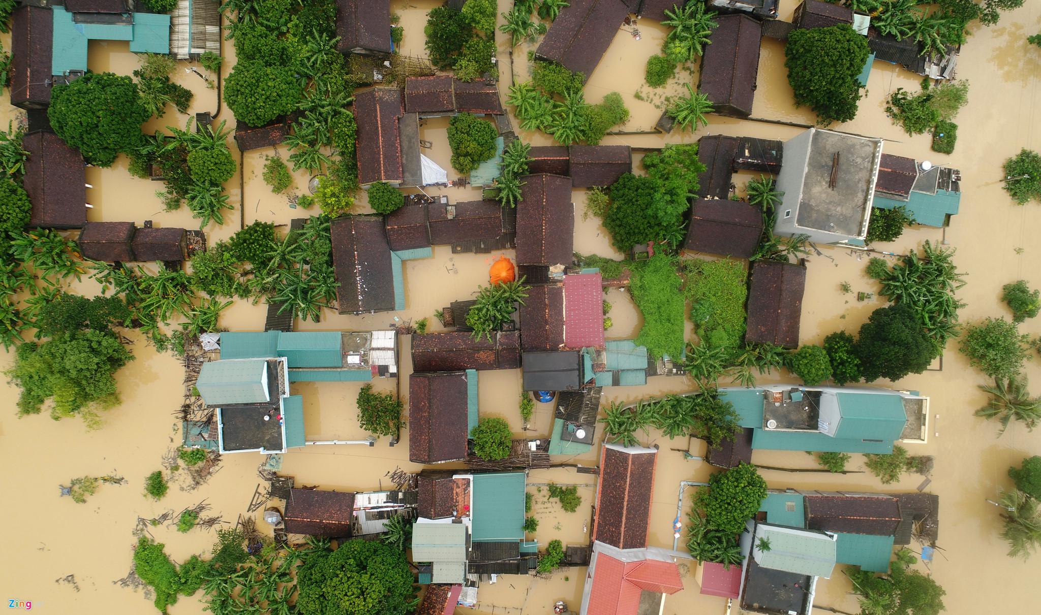 Hình ảnh ngập lụt tại Thanh hóa