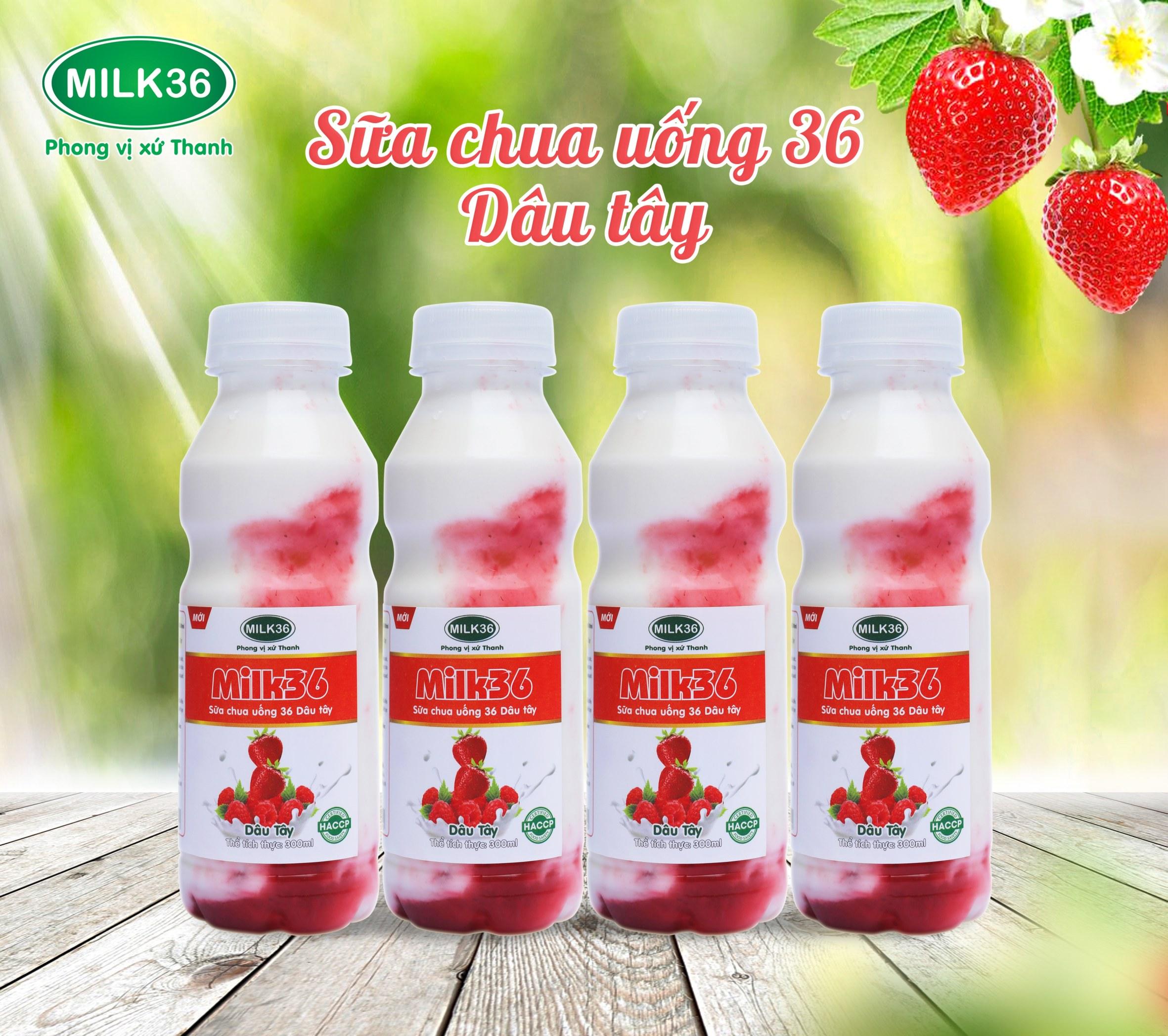 Sữa chua uống 36 Dâu tây mới