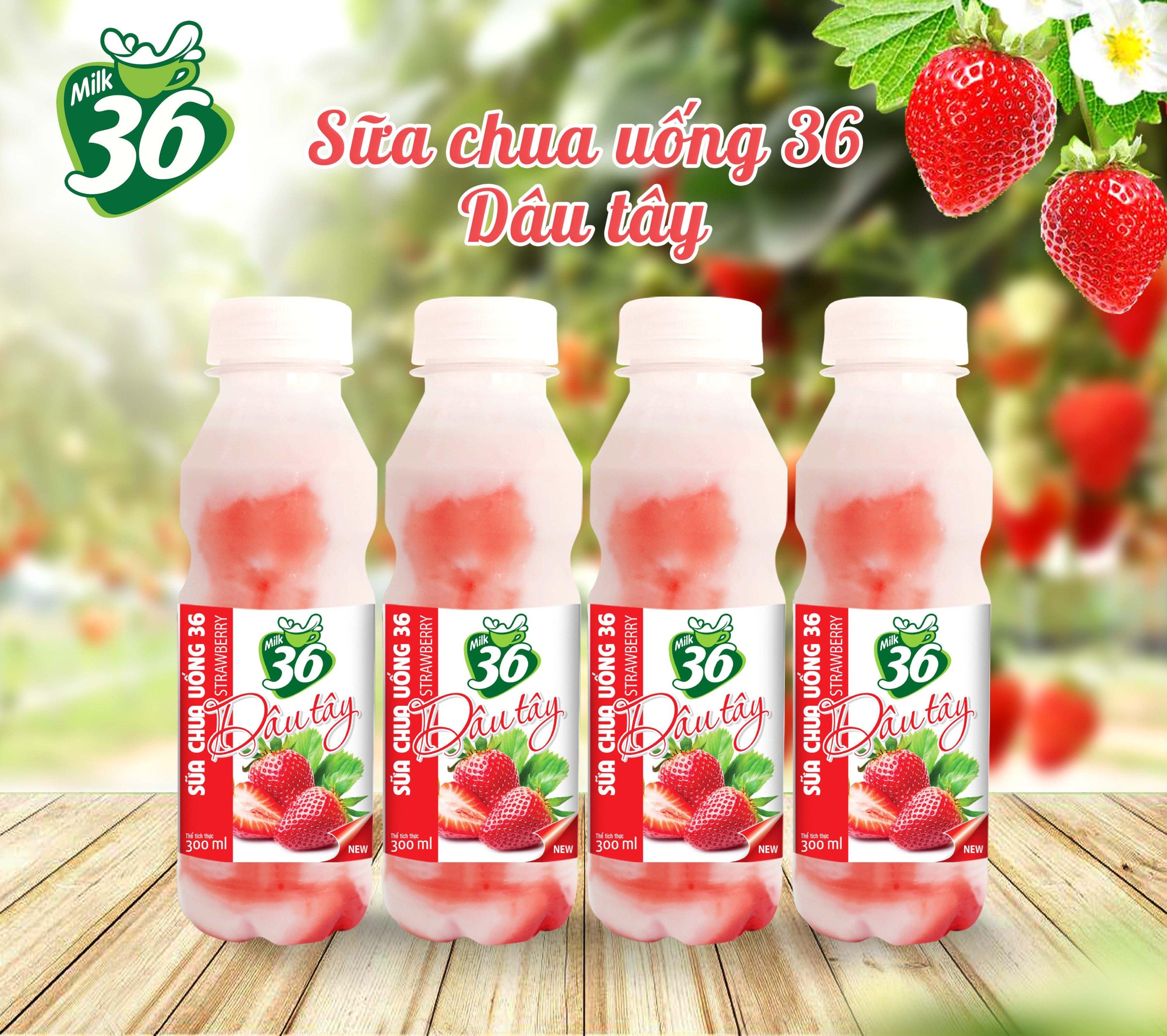 Sữa chua uống 36 dâu tây